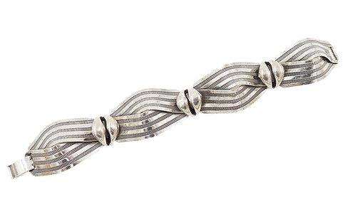 "Napier ""Textured Ribbon"" Bracelet, 1955"