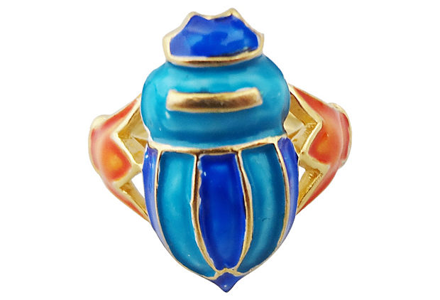 1970s Trifari Scarab Ring