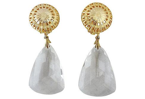 1980s Ellen Designs Clear Drop Earrings