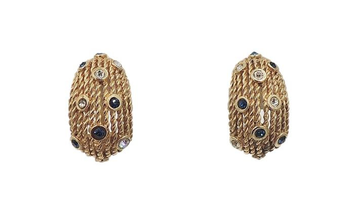 1950s Boucher Half Hoop Earrings