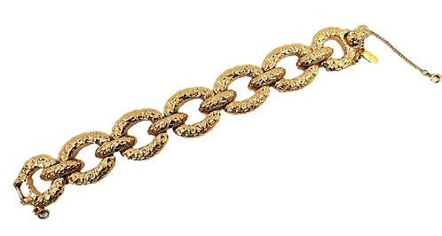 """Monet """"Gold Nugget"""" Link Bracelet, 1973"""