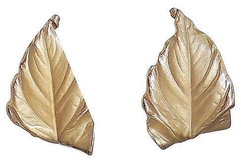 1950s Napier Leaf Earrings
