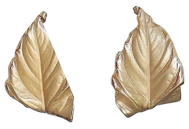 1950s Napier Leaf Earrings