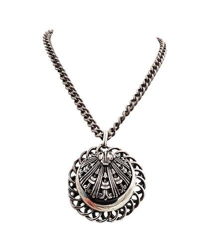1950s Napier Silvertone Pendant Necklace