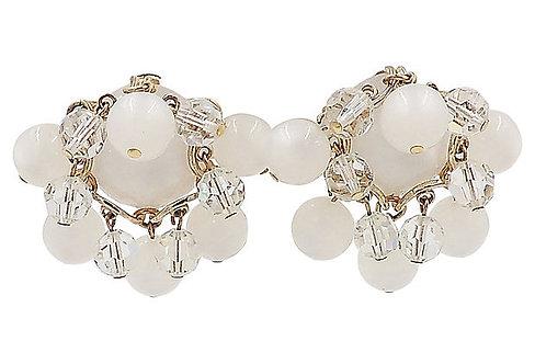 1950s Napier Moonglow Dangles Earrings