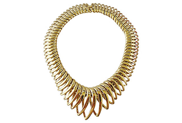 Monet Spiral Necklace, 1970