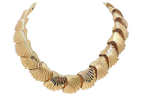 Monet Scalloped Necklace, 1984