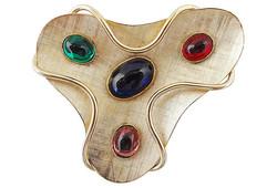 1950s Napier Modernist Cabochon Pin