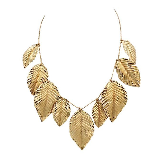 Napier Frosted Leaves Necklace, 1981