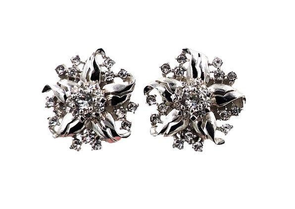 Pennino Floral Rhinestone Earrings