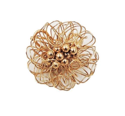 1950s Napier Modernist Goldtone Flower Brooch