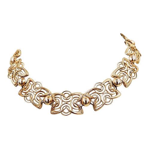 1950s Napier Modernist Goldtone Necklace
