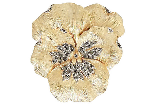 1960s Trifari Pansy Pin