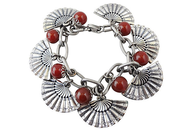 Napier Fan Charm Bracelet, 1955
