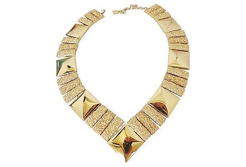 Monet Book Piece V Collar Necklace, 1973