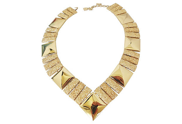 Monet Book Piece V Collar Necklace, 1973