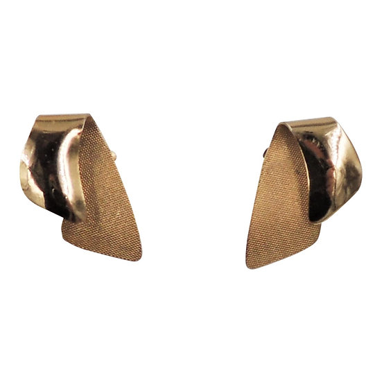 1950s Napier Modernist Goldtone Earrings