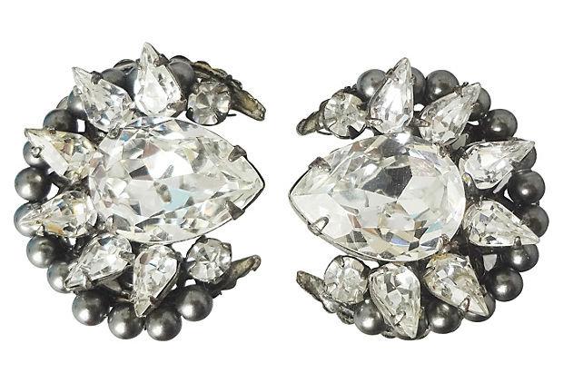 1960s Original by Robert Gunmetal Earrings