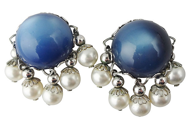 1950s Napier Moonglow Earrings