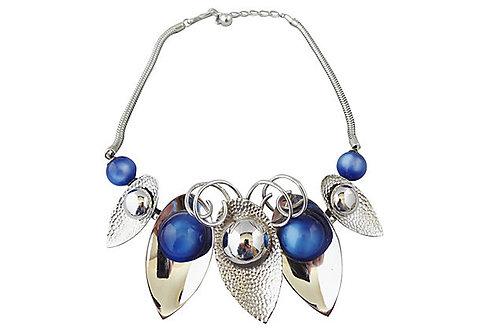 1950s Napier Blue Moonglow Modernist Necklace