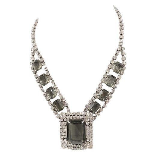Delizza & Elster Juliana Book Piece Faux-Black Diamond Necklace