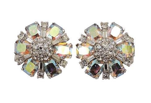 1960s Jomaz Aurora Borealis Earrings