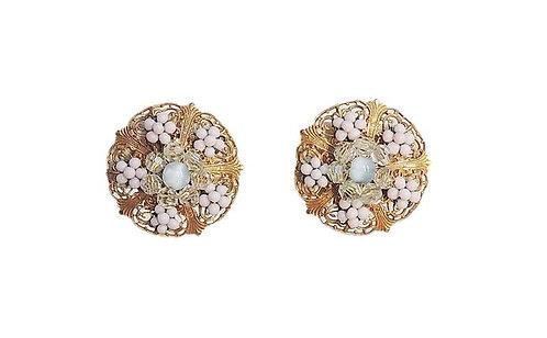 1930s Miriam Haskell Beaded Earrings