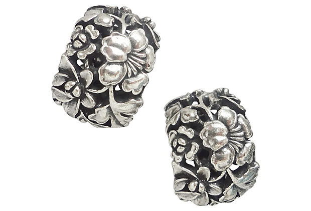 Napier Floral Earrings, 1971