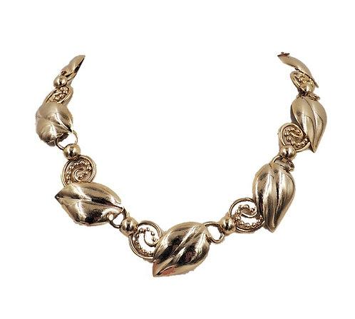 1950s Napier Goldtone Leaves Necklace