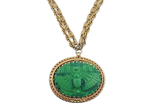 Napier Scarab Necklace, 1968