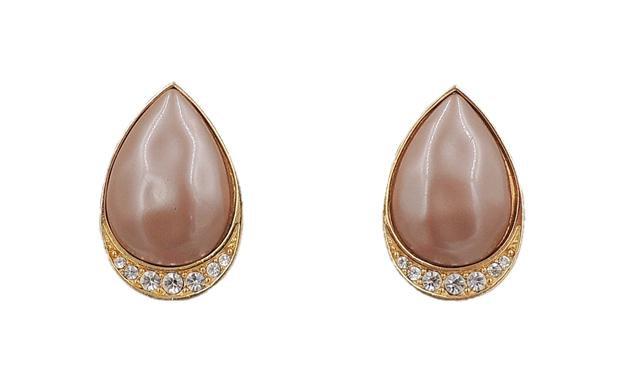 1980s Yves Saint Laurent Mocha Lucite Earrings