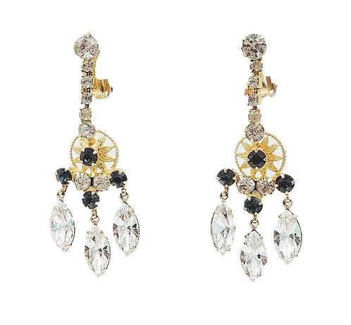 Delizza & Elster Faux-Sapphire & Marquise Rhinestone Chandelier Earrings