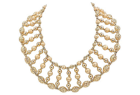 Napier Book Piece Egyptian Revival-Style Necklace