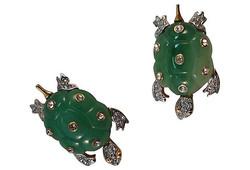 Kenneth Lane Turtle Earrings, 1985