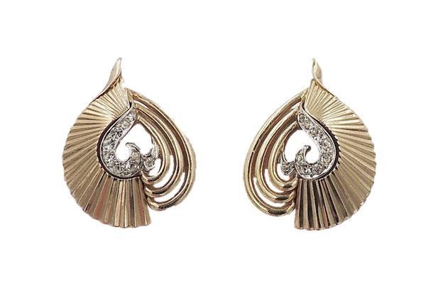 Late 1950s Boucher Rhinestone Earrings