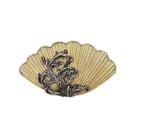 1960s Napier Book Piece Shell Brooch