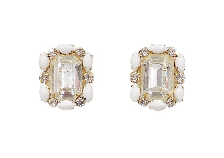 1950s Hattie Carnegie Rhinestone Earrings