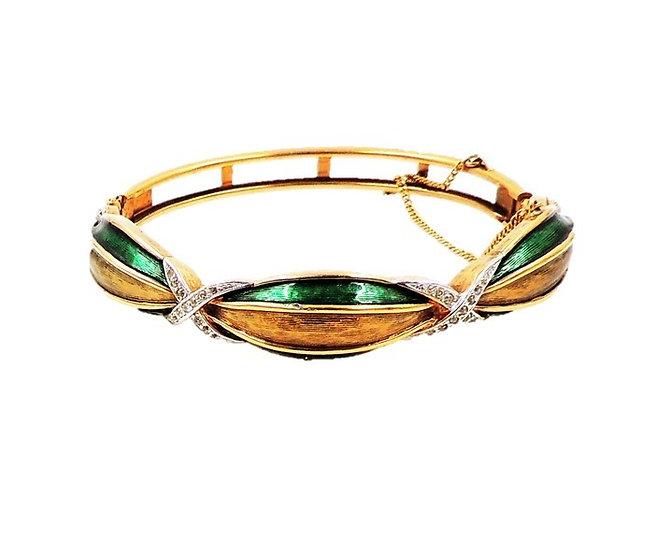 1960s Panetta Enamel Cuff Bracelet