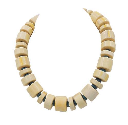 Monet Beaded Ad Piece Necklace, 1982