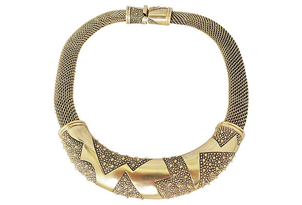 1980s Monet Modernist Necklace