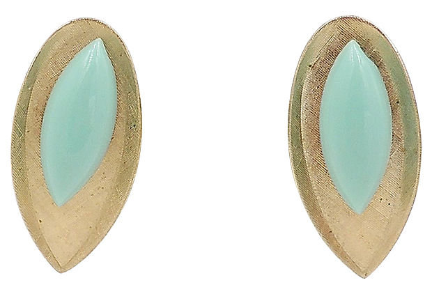 1950s Napier Blue Lucite Earrings
