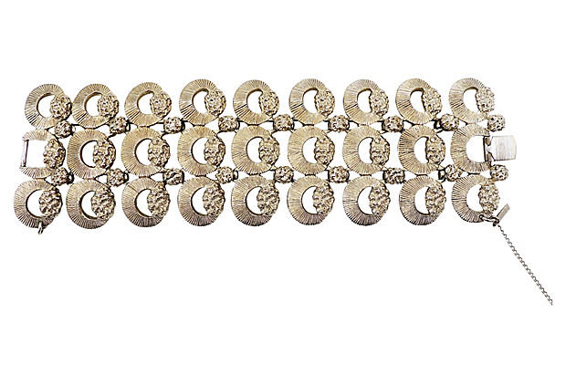 Monet Silvertone Tuscany Bracelet, 1957