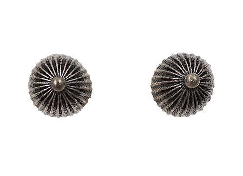 1950s Napier Silvertone Domed Earrings