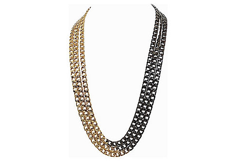 1980s Givenchy Multi-Chain Necklace