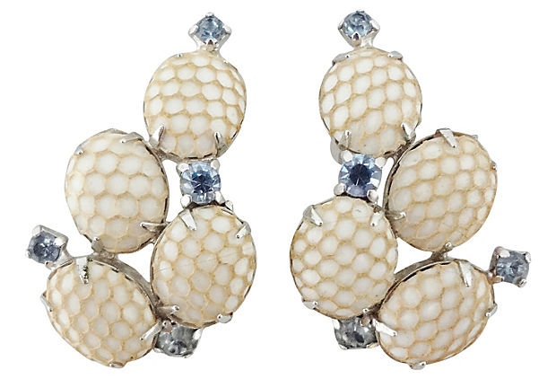 1950s Kramer Netted Earrings