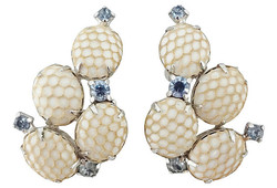 1950s Kramer Netted Earrings