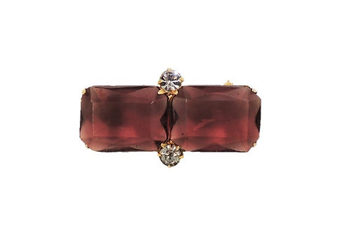 1980s Signed Valentino Faux-Amethyst Brooch