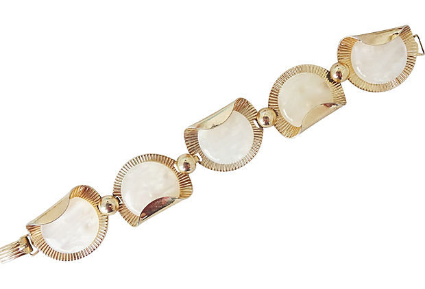 1950s Napier Faux-Mother-of-Pearl Bracelet