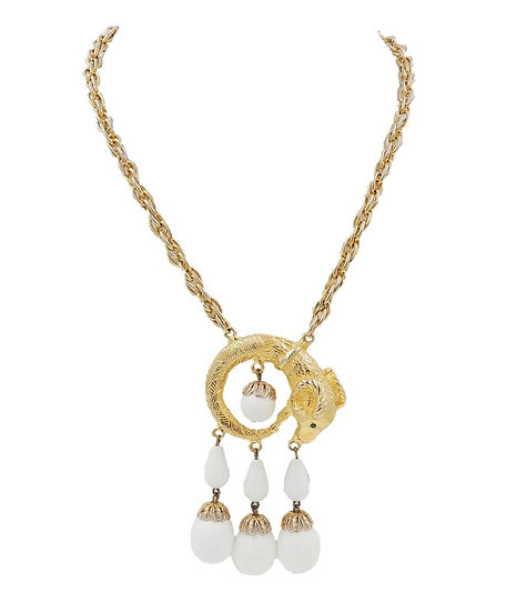 Kenneth Lane Ram's Head Pendant Necklace