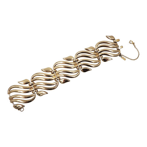 Monet Goldtone Open Link Bracelet, 1954